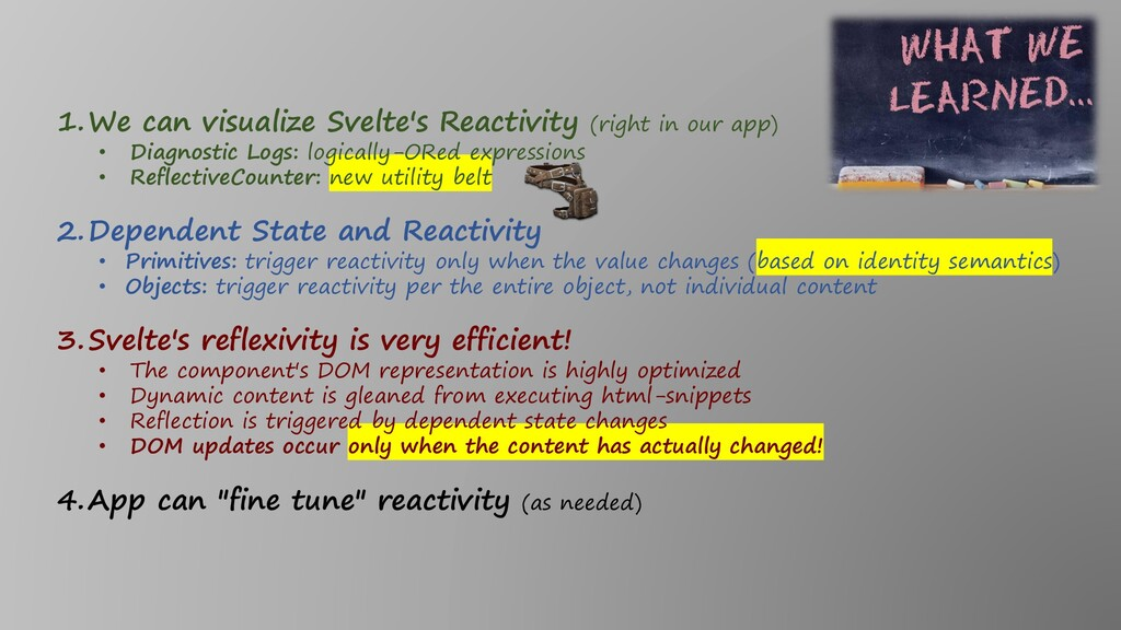 1.We can visualize Svelte's Reactivity (right i...