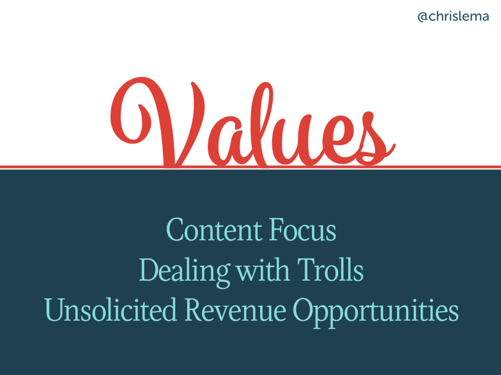 Values Content Focus Dealing with Trolls Unsoli...