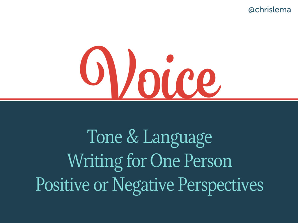 Voice Tone & Language Writing for One Person Po...