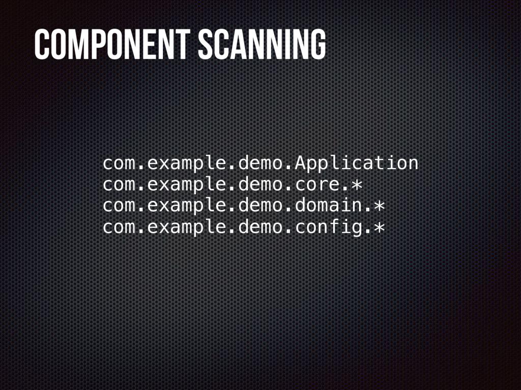 Component Scanning com.example.demo.core.* com....