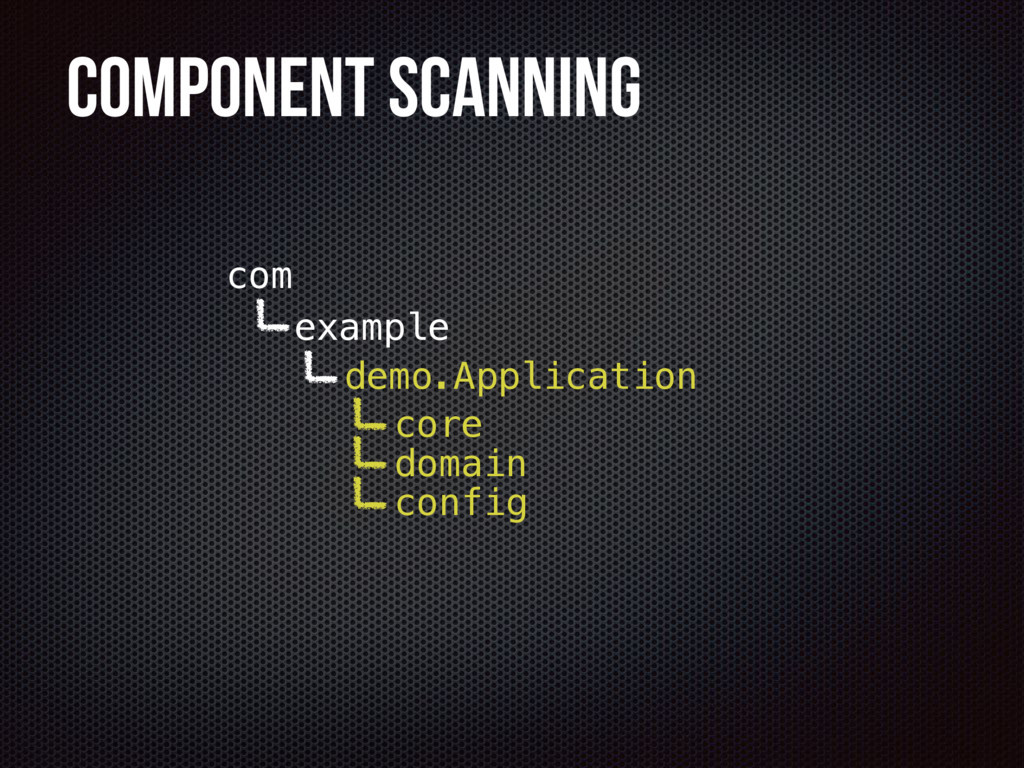Component Scanning example demo com config core...