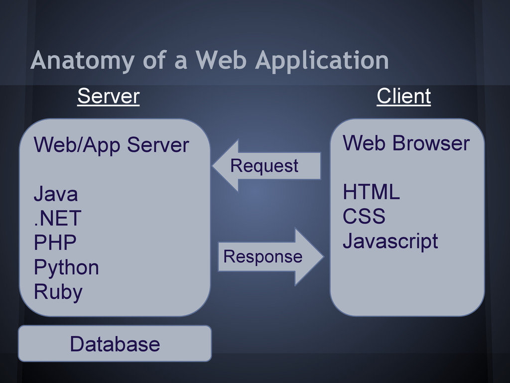 Anatomy of a Web Application Client Server Web ...