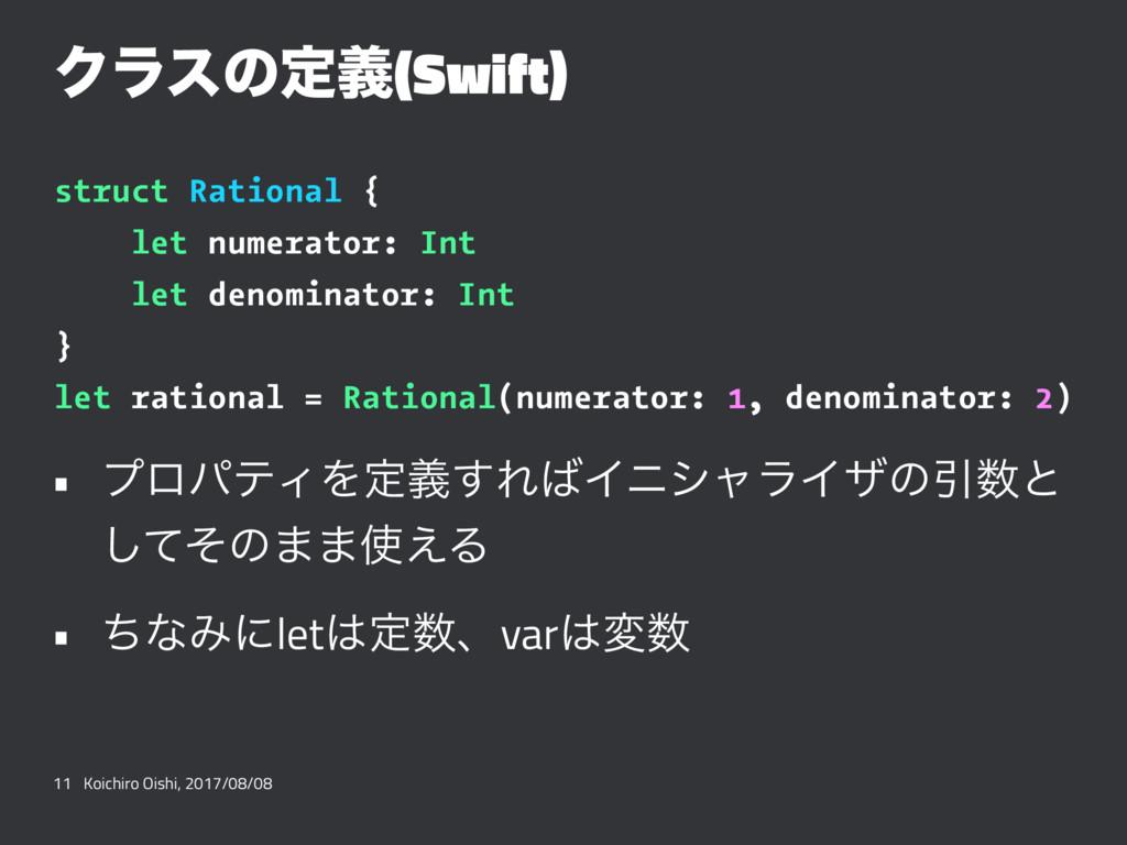 Ϋϥεͷఆٛ(Swift) struct Rational { let numerator: ...