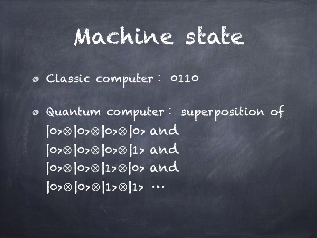Machine state Classic computerɿ 0110 Quantum co...