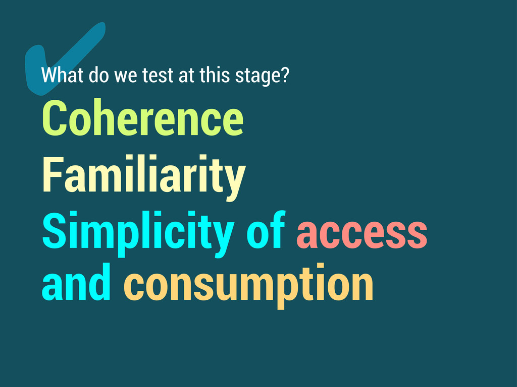 ✔ What do we test at this stage? Coherence Fami...