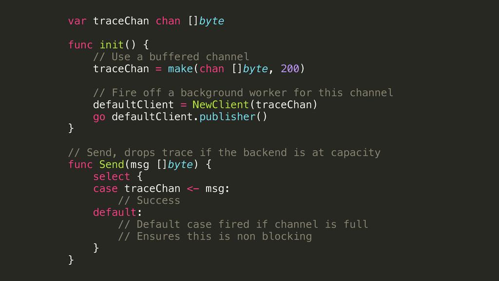 var traceChan chan []byte func init() { // Use ...