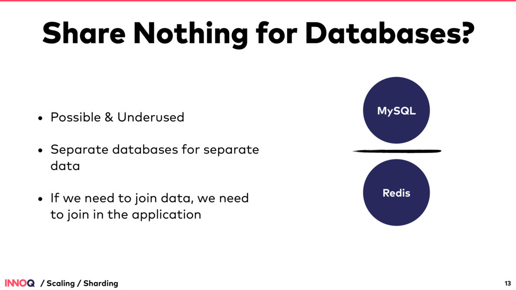 Share Nothing for Databases? • Possible & Under...