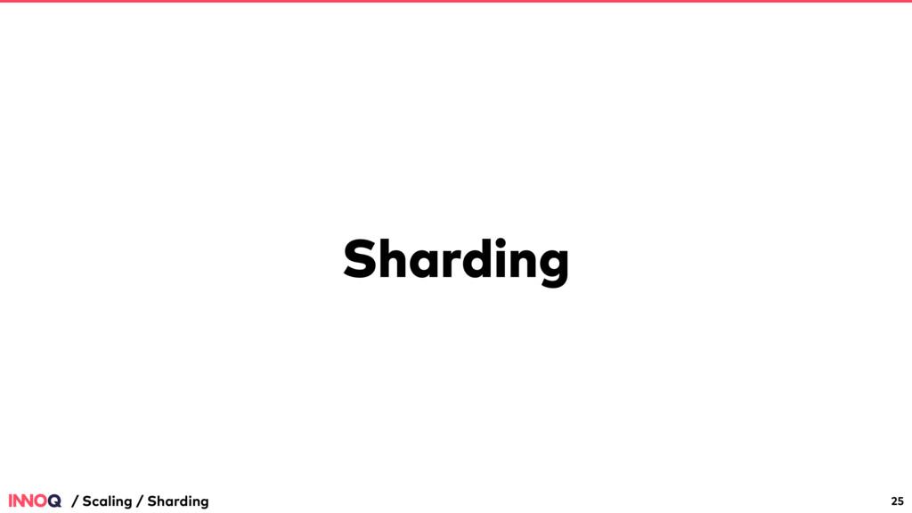 Sharding 25 / Scaling / Sharding