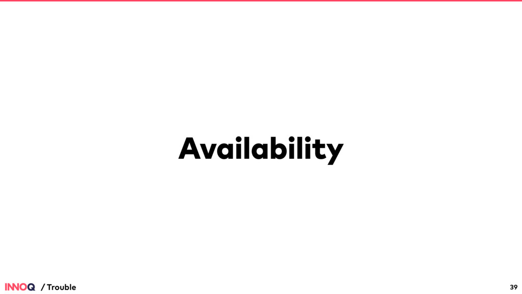 Availability 39 / Trouble