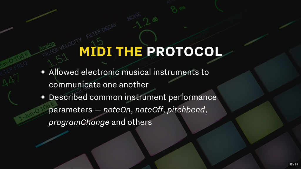 MIDI THE PROTOCOL Allowed electronic musical in...
