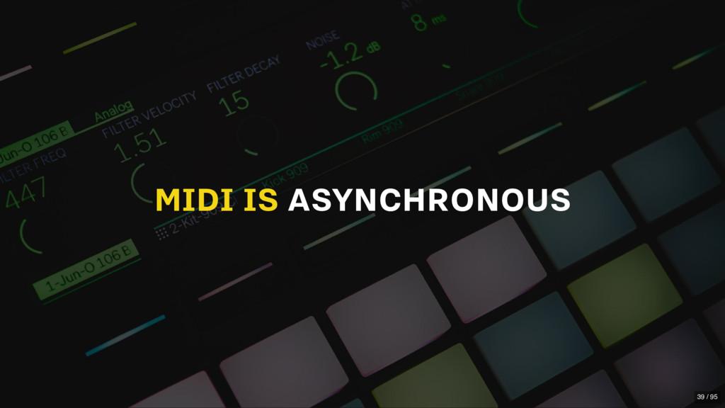 MIDI IS ASYNCHRONOUS 39 / 95