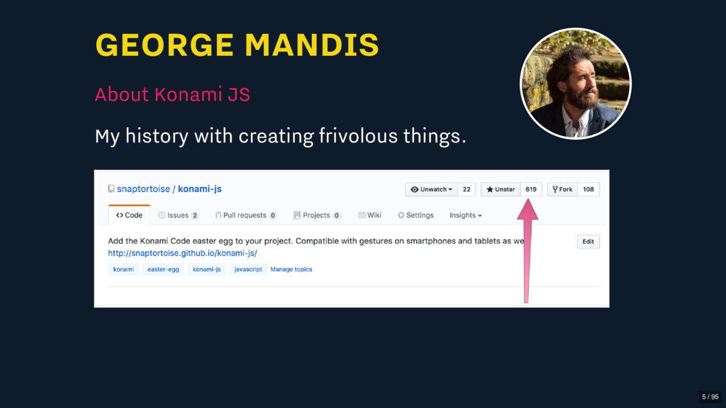 GEORGE MANDIS About Konami JS My history with c...
