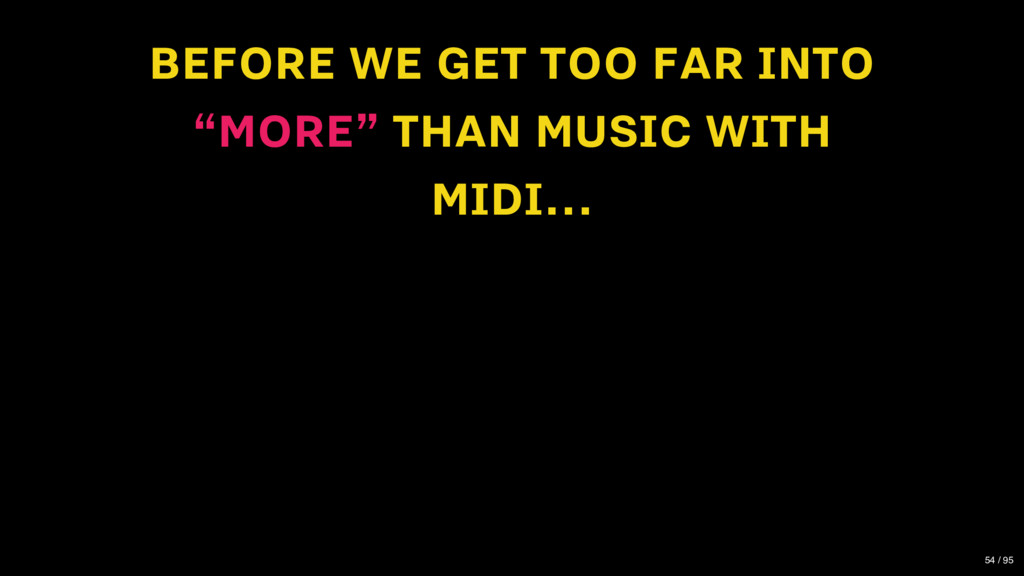 "BEFORE WE GET TOO FAR INTO ""MORE"" THAN MUSIC WI..."