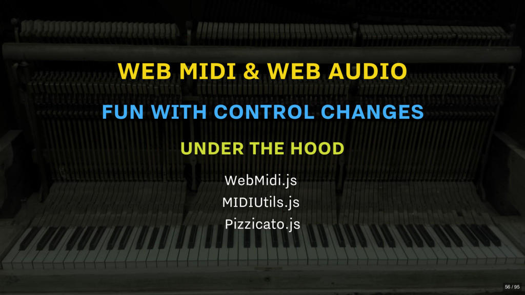 WEB MIDI & WEB AUDIO UNDER THE HOOD WebMidi.js ...