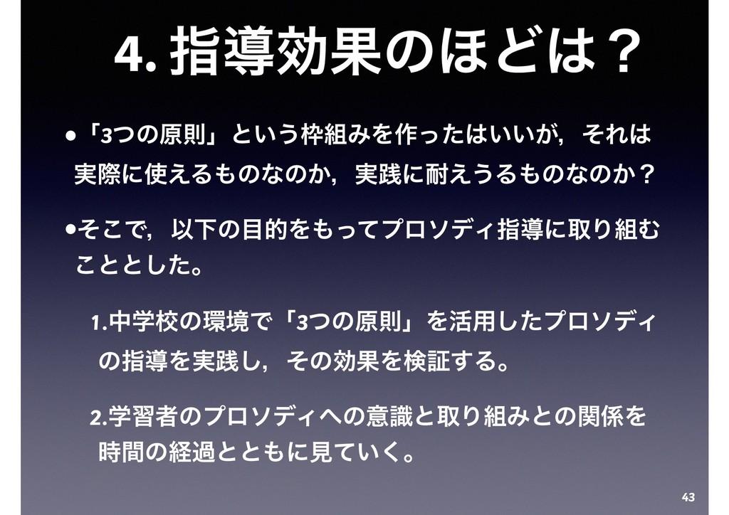 4. ࢦಋޮՌͷ΄Ͳʁ •ʮ3ͭͷݪଇʯͱ͍͏ΈΛ࡞͍͍͕ͬͨɼͦΕ ࣮ࡍʹ͑Δ...