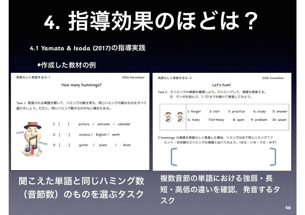 4. ࢦಋޮՌͷ΄Ͳʁ 4.1 Yamato & Isoda (2017)ͷࢦಋ࣮ફ •࡞...