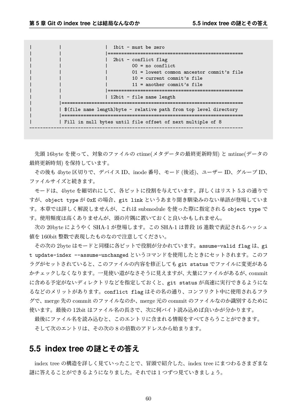 ୈ 5 ষ Git ͷ index tree ͱ݁ہͳΜͳͷ͔ 5.5 index tree...