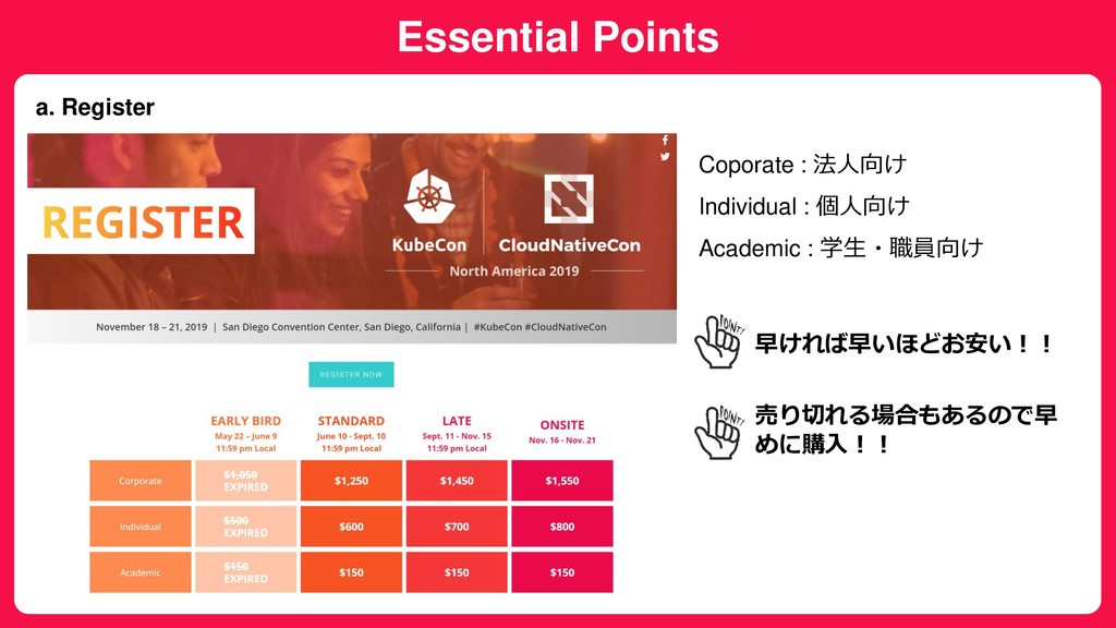 Essential Points a. Register Coporate : 法人向け In...