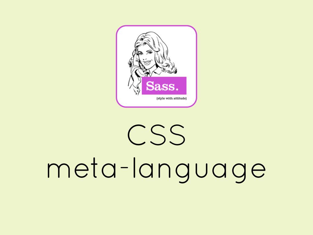 CSS meta-language