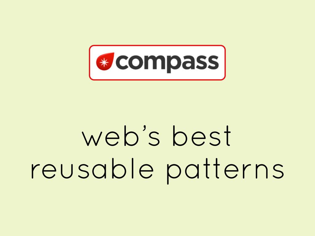 web's best reusable patterns