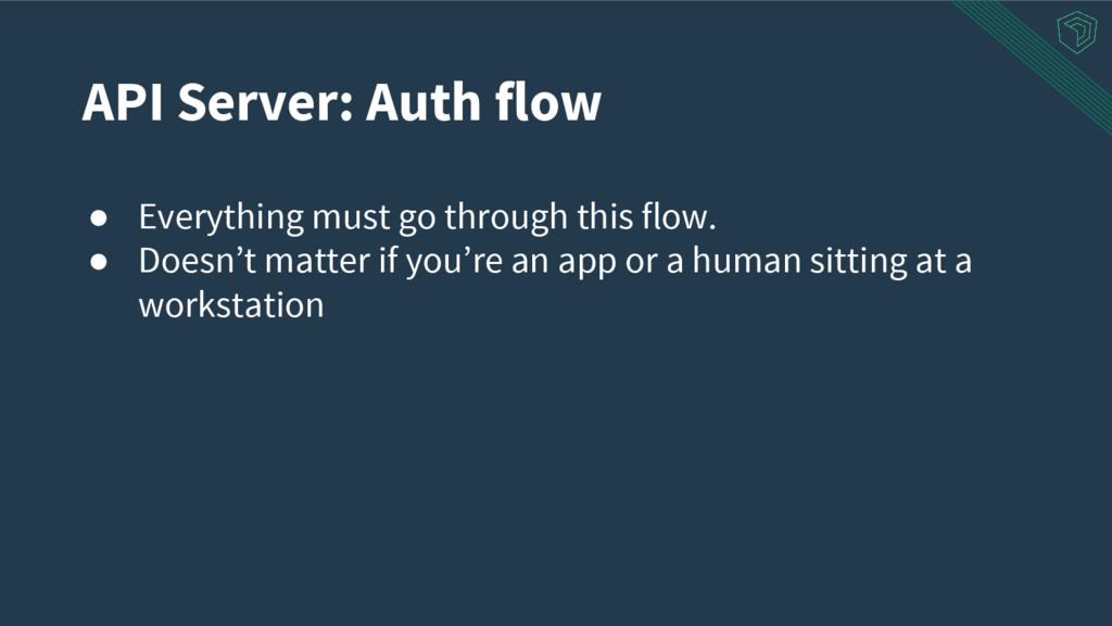API Server: Auth flow ● Everything must go thro...