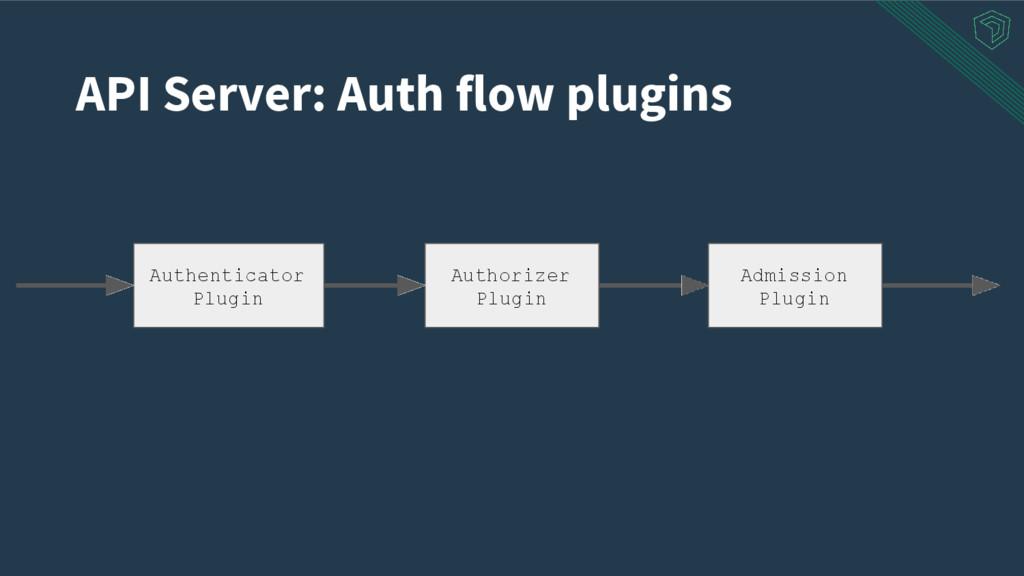API Server: Auth flow plugins Authorizer Plugin...