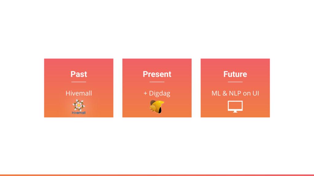 Past Hivemall Present + Digdag Future ML & NLP ...