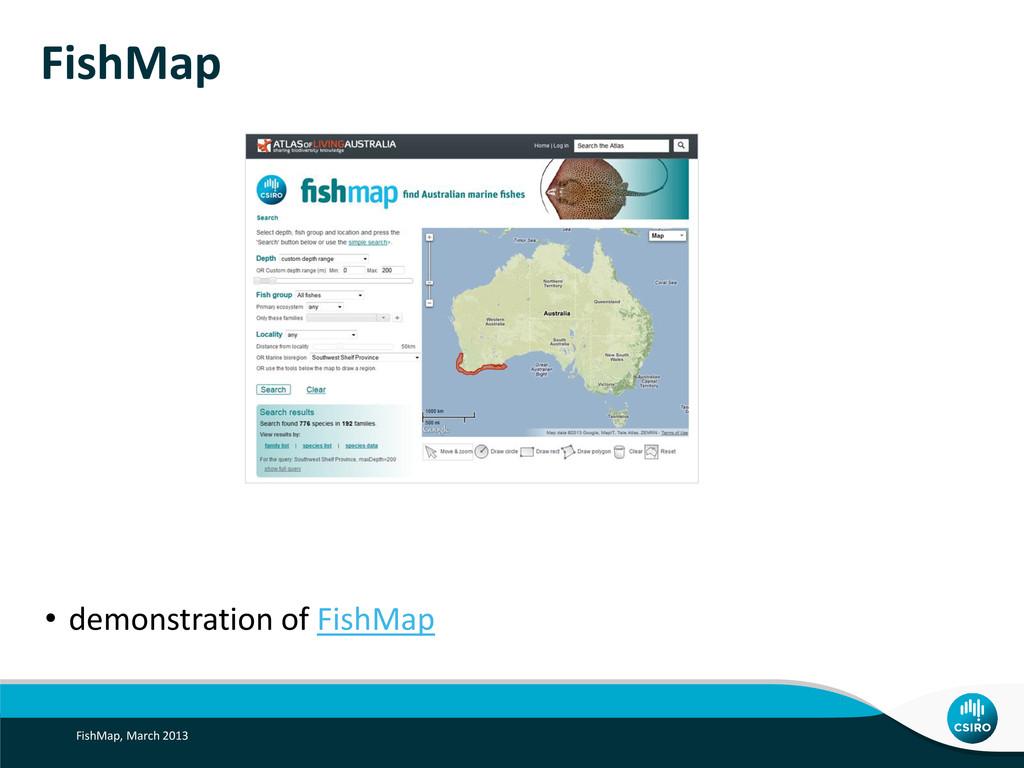 FishMap • demonstration of FishMap FishMap, Mar...