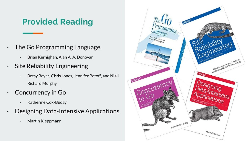 Provided Reading - The Go Programming Language....