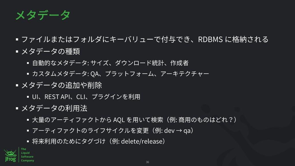 § RDBMS § § : § : QA § § UI REST API CLI § § AQ...
