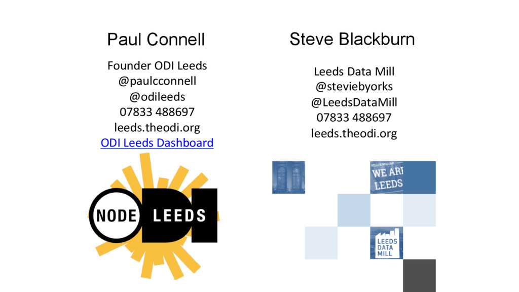 Paul Connell Founder ODI Leeds  @paulc...