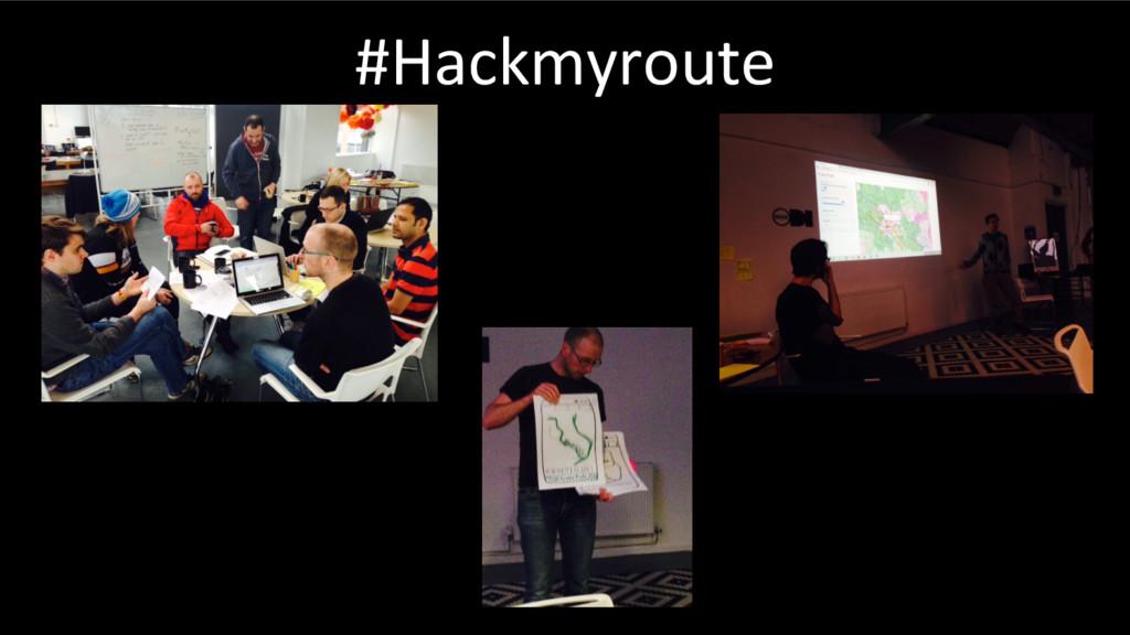 #Hackmyroute