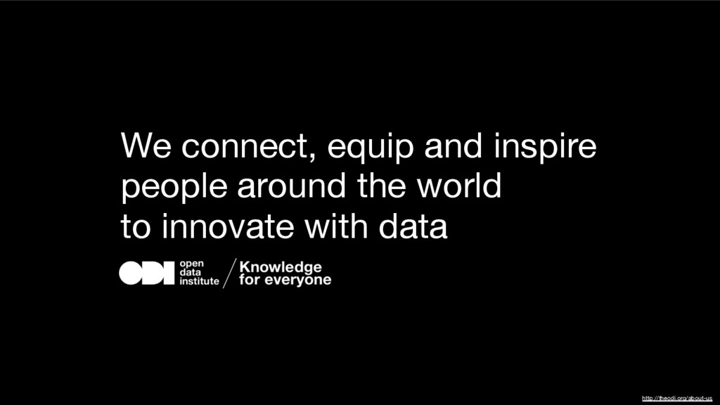 We connect, equip and inspire people around the...