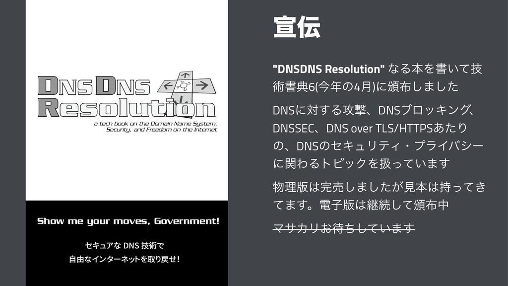"""એ """"DNSDNS Resolution"""" ͳΔຊΛॻ͍ٕͯ ज़ॻయ6(ࠓͷ4݄)ʹ൦͠..."""