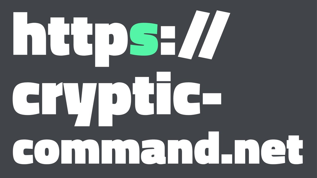 https:/ / cryptic- command.net