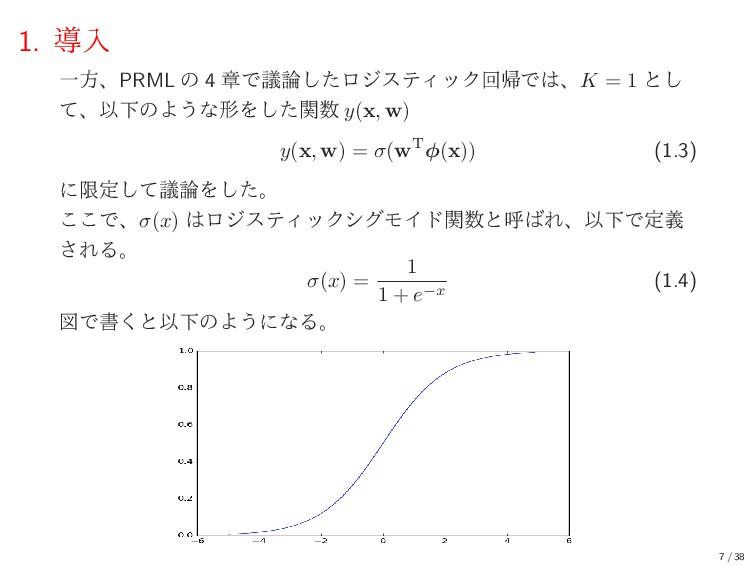 1. ಋೖ ҰํɺPRML ͷ 4 ষͰٞͨ͠ϩδεςΟοΫճؼͰɺK = 1 ͱ͠ ͯɺ...