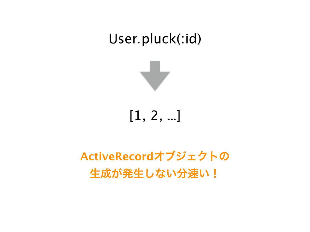 User.pluck(:id) [1, 2, …] ActiveRecordΦϒδΣΫτͷ ੜ...