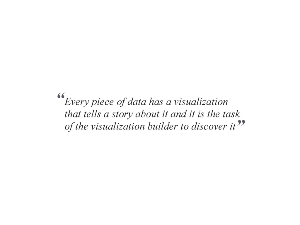 Every piece of data has a visualization that te...