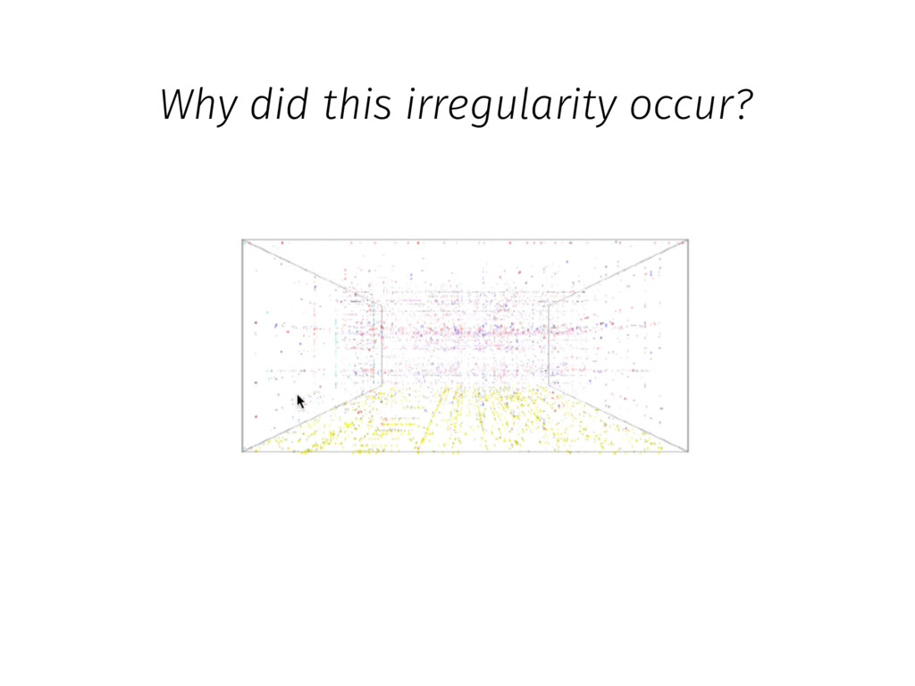 Why did this irregularity occur?
