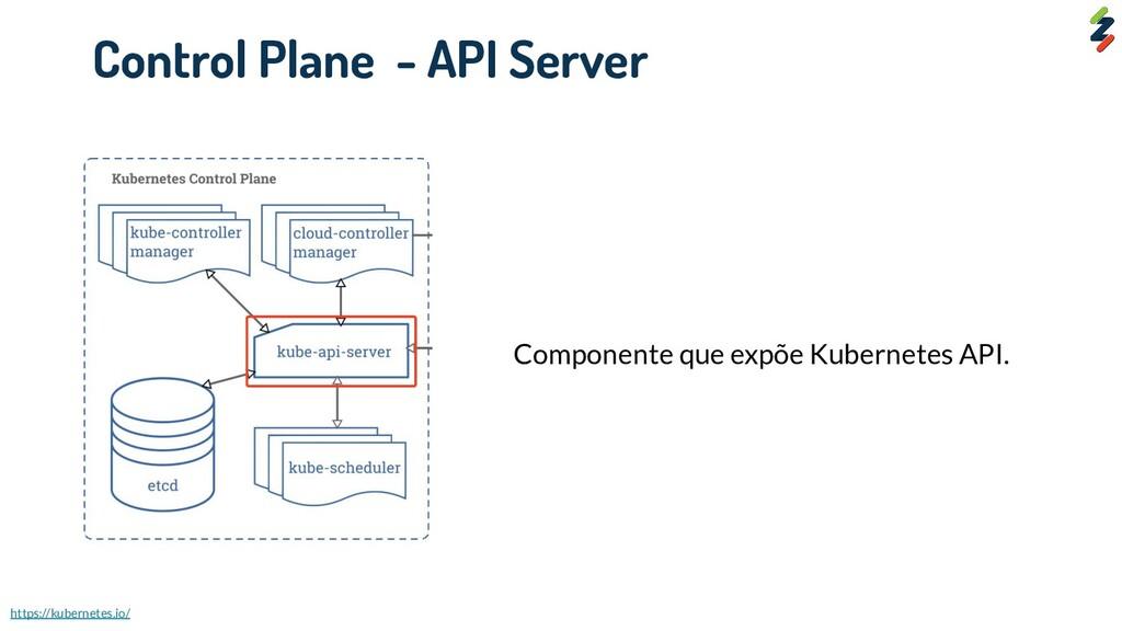 Componente que expõe Kubernetes API. Control Pl...