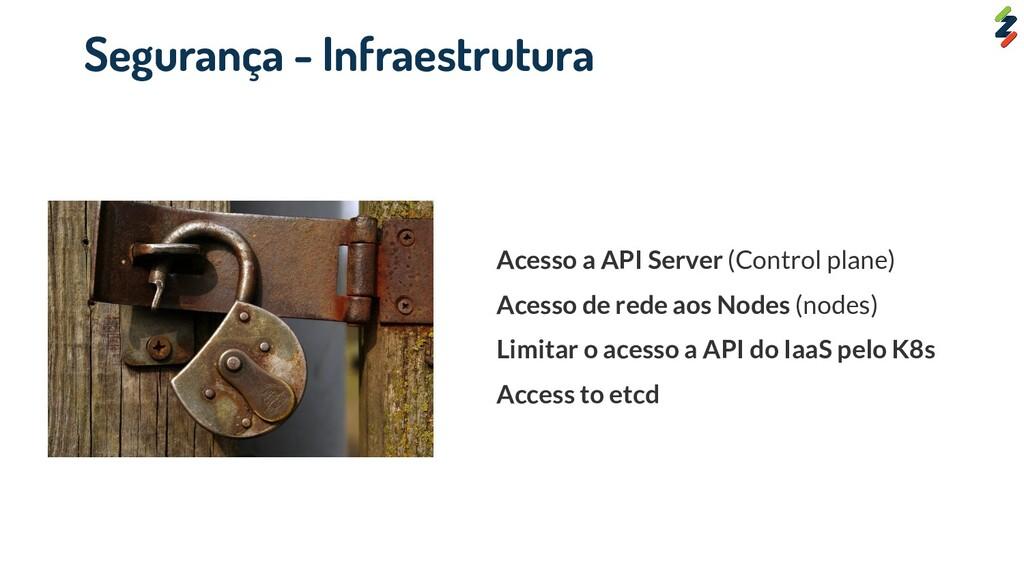 Acesso a API Server (Control plane) Acesso de r...