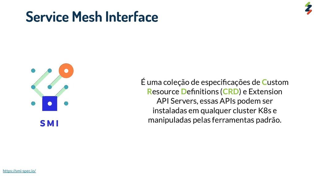 Service Mesh Interface É uma coleção de especifi...