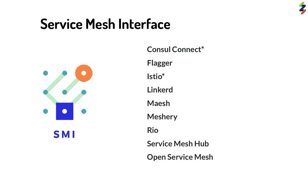 Consul Connect* Flagger Istio* Linkerd Maesh Me...