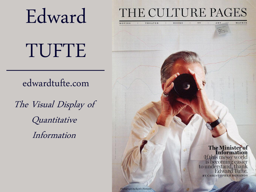 Edward TUFTE edwardtufte.com The Visual Display...