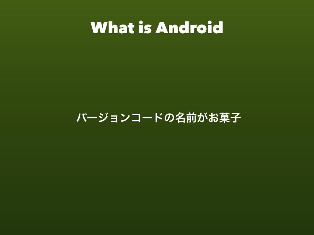 What is Android όʔδϣϯίʔυͷ໊લ͕͓՛ࢠ