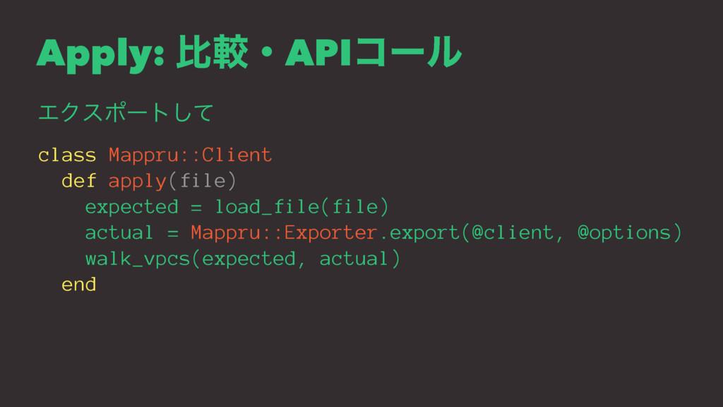Apply: ൺֱɾAPIίʔϧ ΤΫεϙʔτͯ͠ class Mappru::Client ...