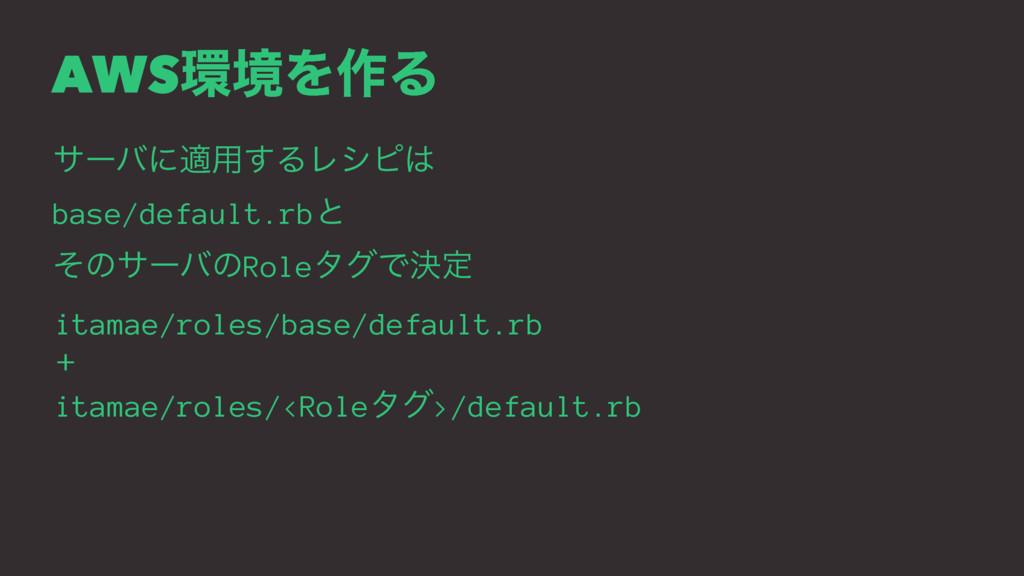 AWSڥΛ࡞Δ αʔόʹద༻͢ΔϨγϐ base/default.rbͱ ͦͷαʔόͷRo...
