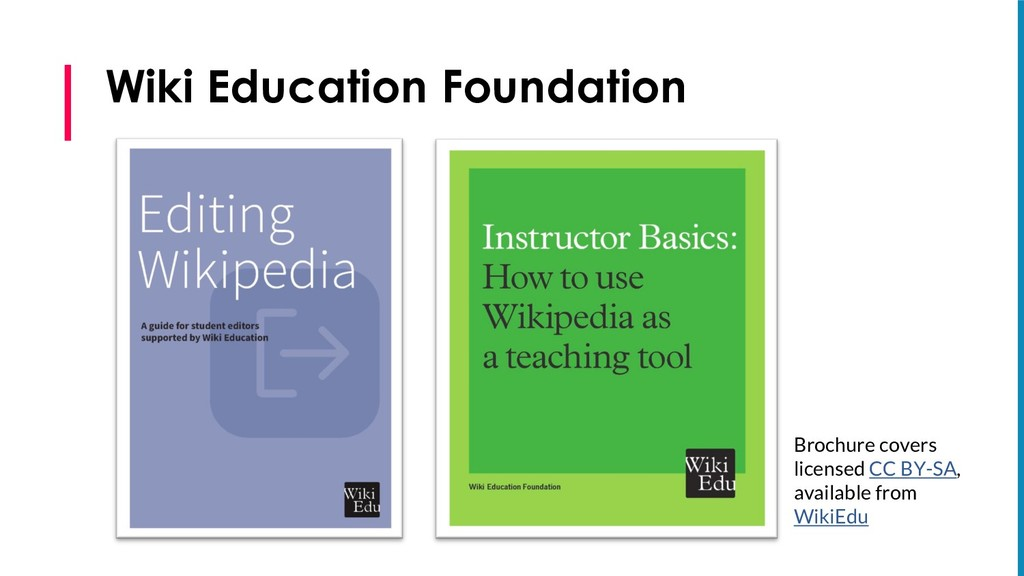 Wiki Education Foundation Brochure covers licen...