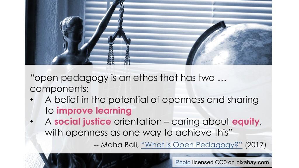 "Open pedagogy & social justice ""open pedagogy i..."