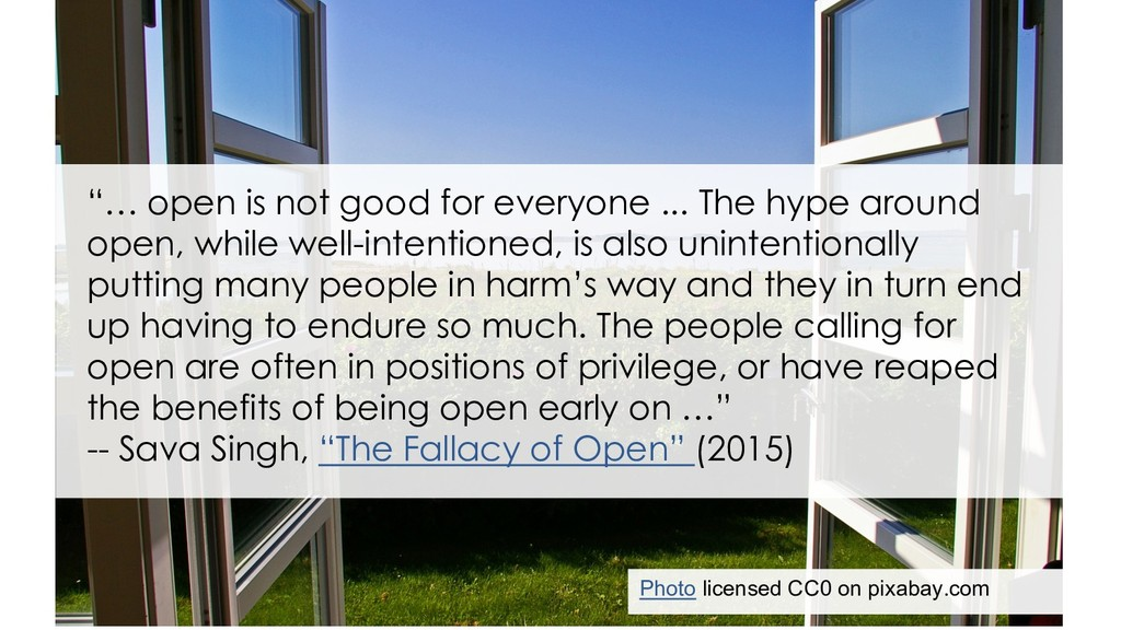 Sava Singh on the fallacy of open Photo license...
